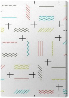 Geometric lines seamless pattern colorful. Thin lines pattern. H