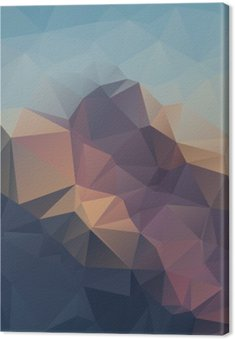 Abstrakcyjne geometryczne kolorowe tło. Górskie szczyty. Kompozycja z trójkątów geometrycznych kształtach. wielokąt krajobrazu.