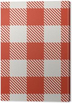 Seamless czerwony i biały wzór wektora obrus.