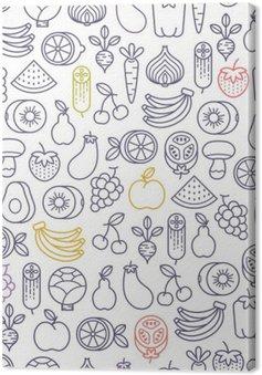 Jednolite wzór z owoców i warzyw ikony