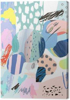 Trendy twórczy kolaż z różnych tekstur i kształtów. Nowoczesna szata graficzna. Niezwykłe dzieło. Wektor. Odosobniony