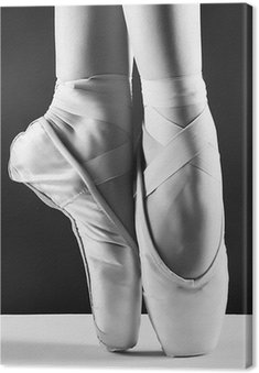 Zdjęcie pointes, baleriny w na tle czarnym