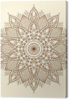 Mandala. piękne ręcznie rysowane kwiatu.