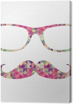 Retro hipster twarz ikony geometryczne