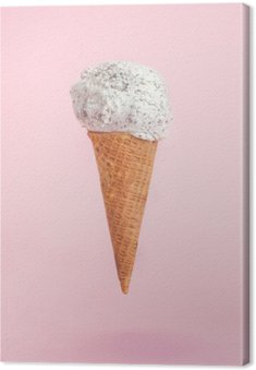 icecream cone on pink background