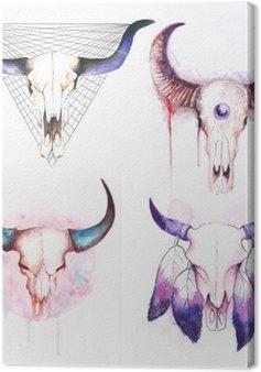 Zestaw krowy czaszki z rogami