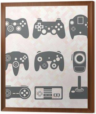 Wektorowa zestaw: Kontroler gier wideo sylwetki