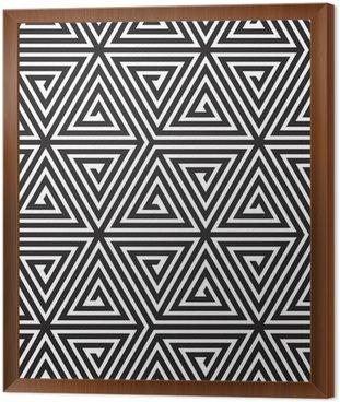 Trójkąty, Czarno-biała abstrakcja Bezproblemowa geometryczny wzór