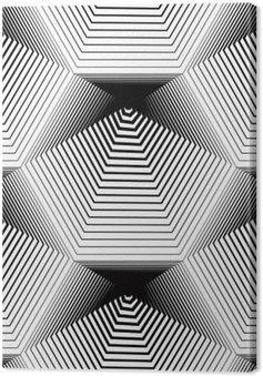 Geometric monochrome stripy seamless pattern, black and white ve