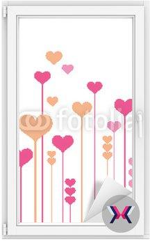 Abstrakcyjne kwiaty serca