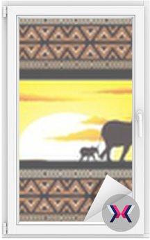Savana Tramonto e animali-Savannah Sunset i zwierzęta-Banner