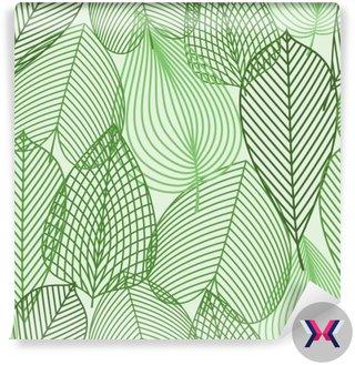 Wiosną zielone liście szwu wzór
