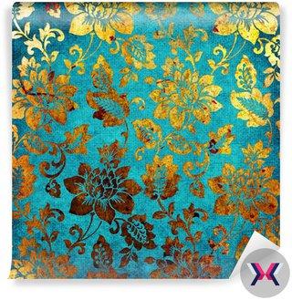 Złoty kolor niebieski rocznika tle