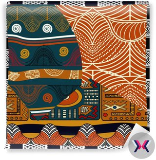 Indyjski kolorowych ilustracji bez szwu pattern.Vector