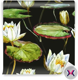 Akwarela lotosu wzór