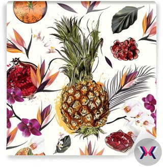 Beautiful seamless vector pattern with tropical plants orchids a