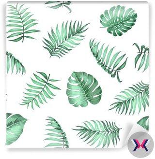 Miejscowe liści palmowych na bezproblemową wzór na fakturze tkaniny. ilustracji wektorowych.