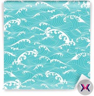 Ocean fale, paski szwu ręcznie rysowane stylu azjatyckim