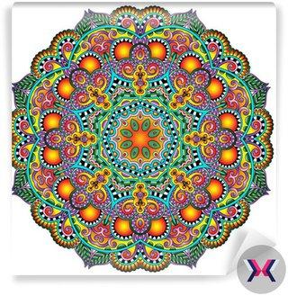 Ornament koronki koło, okrągły wzór dekoracyjny geometryczny serwetka
