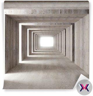 Betonu i światła boczne tunelu
