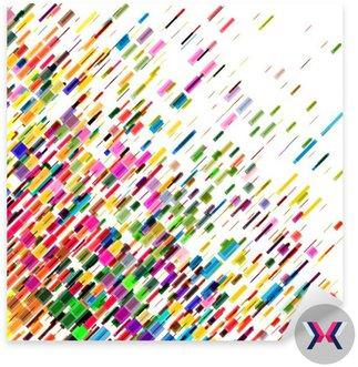 Streszczenie kolorowe ruchome linie, wektor tła