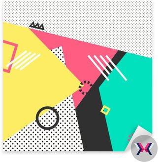 Trendy karty geometryczne elementy Memphis. Retro styl tekstura, wzór i elementy geometryczne. Nowoczesne abstrakcyjne projekt plakatu, okładka, projekt karty.