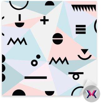 Streszczenie minimalny geometryczny nowoczesny wzór tła materiału i czarne symbole