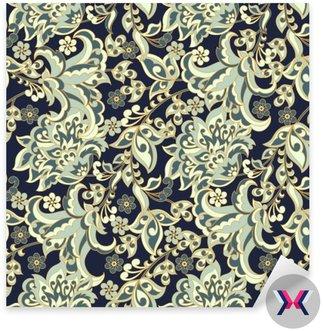Elegancja szwu z kwiatami etnicznych. Wektor kwiatowy ilustracji w stylu azjatyckich tekstylnego