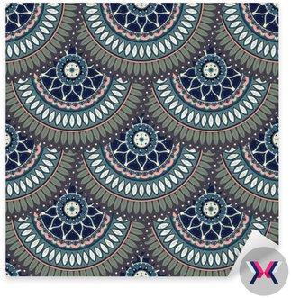Ozdobny kwiatowy bezszwowych tekstur, niekończące wzór z rocznika elementów mandali.