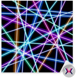 Abstrakcyjne tło wektor, bardziej świecące linie, geometria, technologia, neon tapety