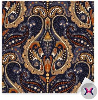 Bezproblemowa Paisley tło, kwiatowy wzór. Indian ornament