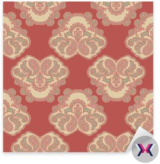 Paisley. Szwu. Wschodnia tradycyjnych szablon pattern.A do drukowania tkanin, papier pakowy, textiles.Limited Palette