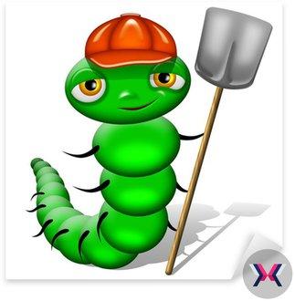 Bruco Verme-Worm Cartoon Chenille Caterpillar Ver-