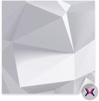 Niski kształt wielokąta geometrii. ilustracji wektorowych