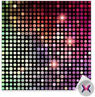 Kolorowe Kropki Streszczenie Disco tła. Vector Background