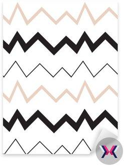 Bezproblemowa geometryczny wzór. Minimalistyczny nowoczesny styl. Abstrakt góry. Zygzak. Jest czarno biały i nagie kolory.