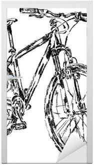 Szkic roweru górskiego, wektor