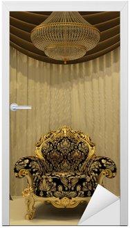Fotel królewski z zasłoną w luksusowe wnętrze