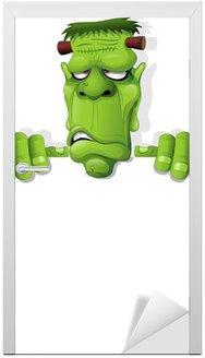 Potwór Frankensteina Cartoon Halloween Tła-Vector