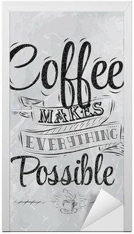 Kawa napis Poster sprawia wszystko, węgiel