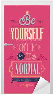 """Vintage """"Be Yourself"""" Poster. Ilustracji wektorowych."""