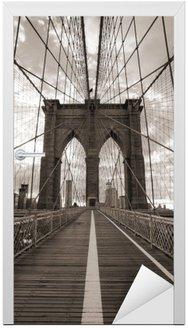 Brooklyn Bridge w Nowym Jorku. sepię.