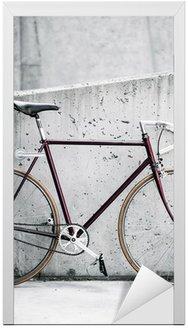 Miasto rowerów i betonowa ściana, vintage, styl,