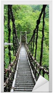 Pont de lianes Kazura kredytowej-à oku Sikoku, Japonia