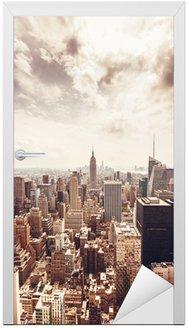 Manhattan skyline widok z lotu ptaka