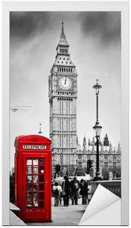 Czerwona budka telefoniczna i Big Ben w Londynie, Anglii, Wielkiej Brytanii