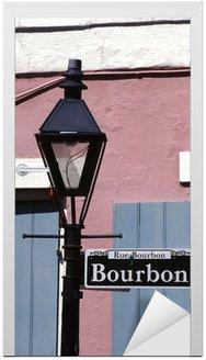 Bourbon street sign Nowy Orlean