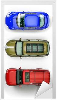 Zestaw top-view samochodów