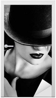 Vintage kobieta z kapelusz i cygara