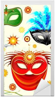 Maschere Carnevale-Carnival-karnawałowe Maski Elements-Vector